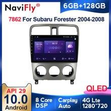 6G + 128G QLED 4G LTE dla Subaru Forester SG 2004 - 2008 Radio samochodowe multimedialny odtwarzacz wideo nawigacja GPS Android 10 2 Din Dvd BT