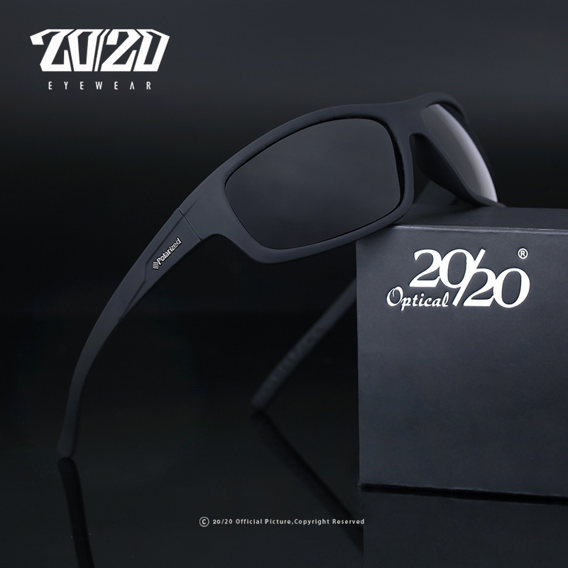 20/20 Optical Brand Design New Polarized Sunglasses Men Fashion Male Eyewear Sun Glasses Travel Fishing Oculos PL66 With Box image