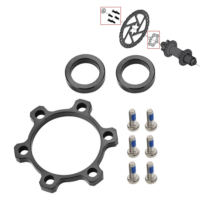 MTB Mountain Bike Boost Disc Brake Hub Adapter 5mm 3mm Gasket Front 100mm*15 Change 110mm*15 Rear 142*12 Change 148mm*12 image