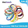 Aecteach 200 метр/Цвет 1 75 мм ABS/PLA Материал 3D из пла-пластика для 3D  АБС-пластиковый наполнитель для Пластик 3D ручки поставки Цвет 3 D