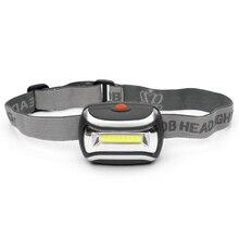 800 люмен COB фара 3 светодиод режимы налобный фонарь водонепроницаемый мини фонарик фонарик для охоты рыбалки открытая дверь аварийный Lante