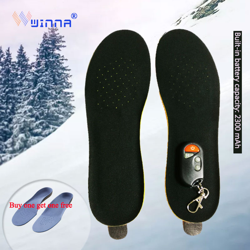 2019Electric Heating Insole 2300 MAh Warm Feet Intimate Gift Winter Warm For Outdoor Sports Outdoor Work Sneaker Insoles