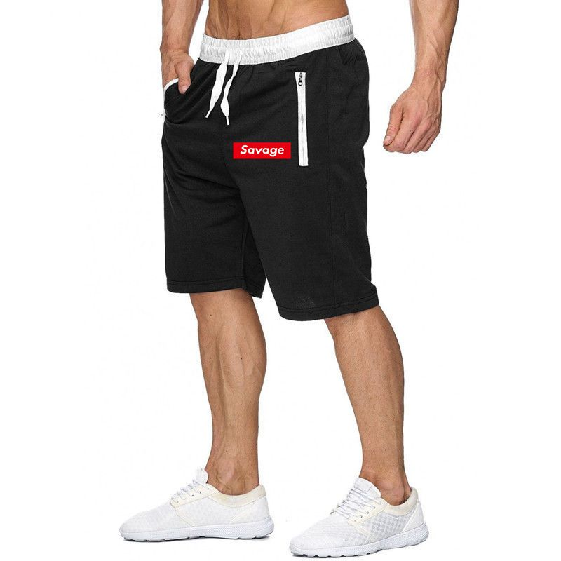Quality Bottoms Men's Shorts Sport Training Bodybuilding Shorts Summer Casual Workout Fitness Gyms Mens Savage Printed Shorts