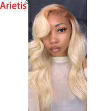 Lace-Frontal Human-Hair-Wig Blonde Women 613 Arietis for White 14-30-Body-Wave T-Part
