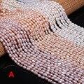 Пресноводные жемчужные бусины в форме риса, свободные бусины 36 см для браслетов, сережек, ожерелий, швейных поделок, ювелирные аксессуары