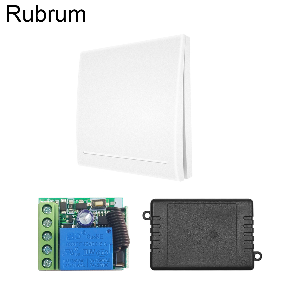 Rubrum 433Mhz Universal Wireless Smart Relay Receiver Module DC 12V 1CH <font><b>Remote</b></font> Control Switch Living Room Bedroom Wall LED Light image