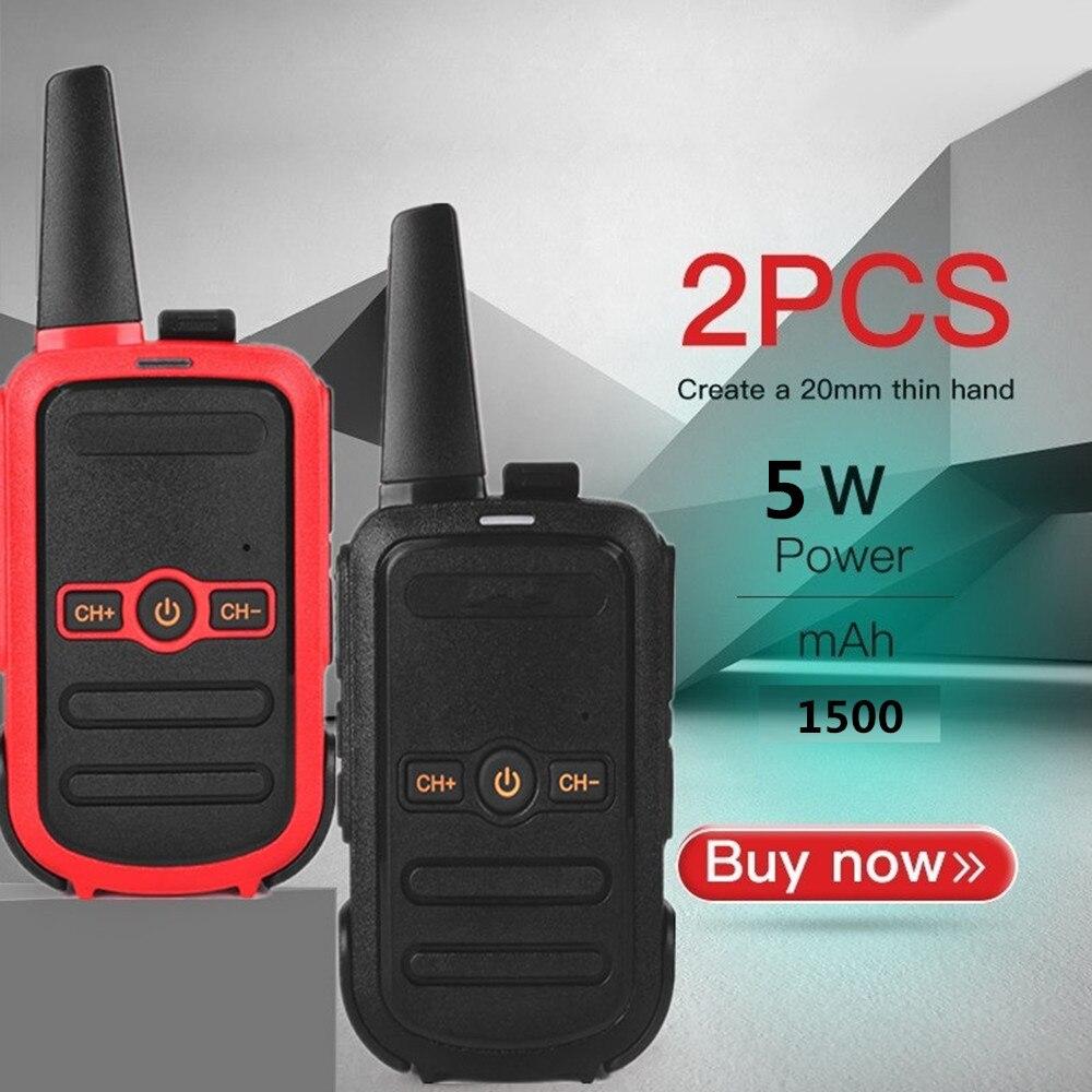 (2pcs) Handheld Walkie Talkie Portable Radio 5W High Power UHF Handheld Two Way Ham Radio Communicator HF Charging Transceiver