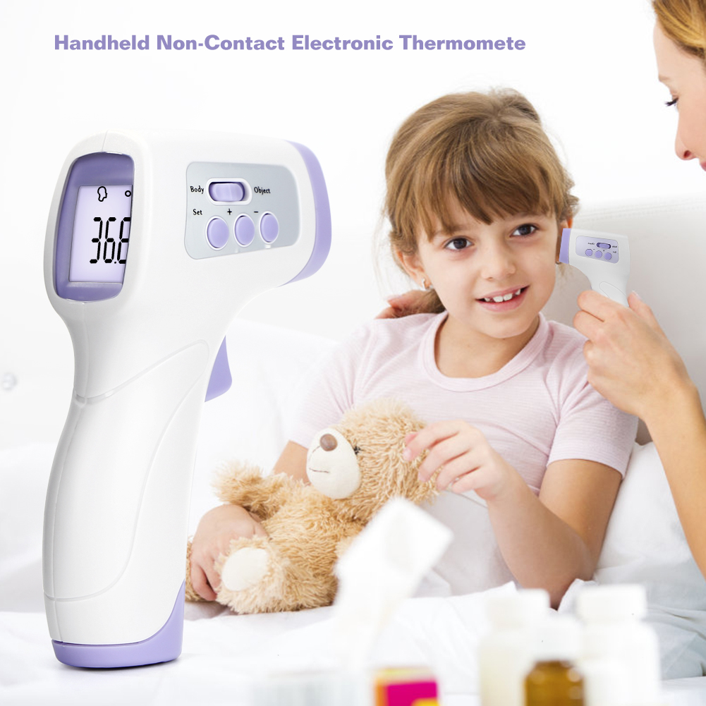 Portable Baby Adult Digital Thermometer Infrared Forehead Body Thermometer Gun Non-contact Temperature Measurement Device Tool