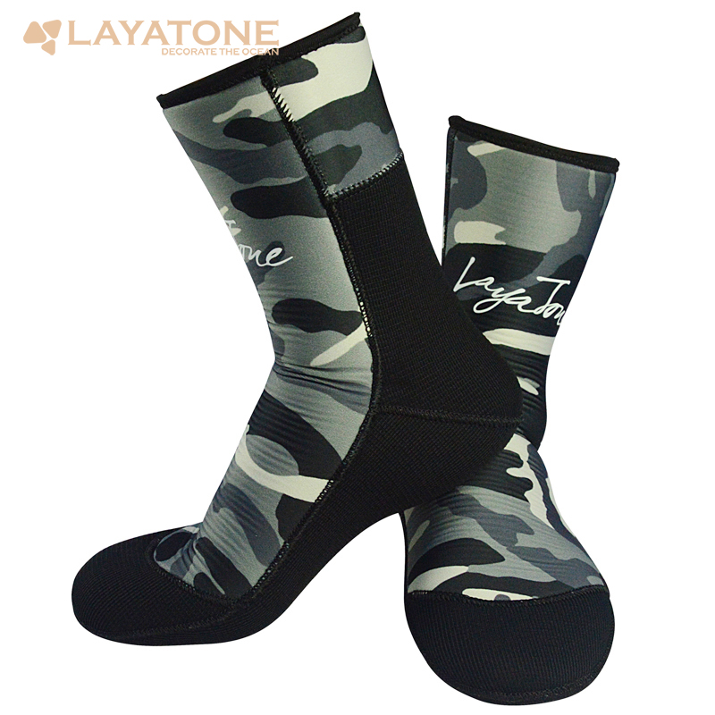 LayaTone 9mm Neoprene Diving Socks Men Underwater Hunting Spearfishing Swimming Snorkeling Wetsuit Boots Shoes Fins Water Socks