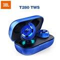 JBL T280 TWS беспроводные Bluetooth наушники спортивные наушники T280TWS глубокие басы Наушники с микрофоном зарядный Чехол Водонепроницаемая гарнитур...
