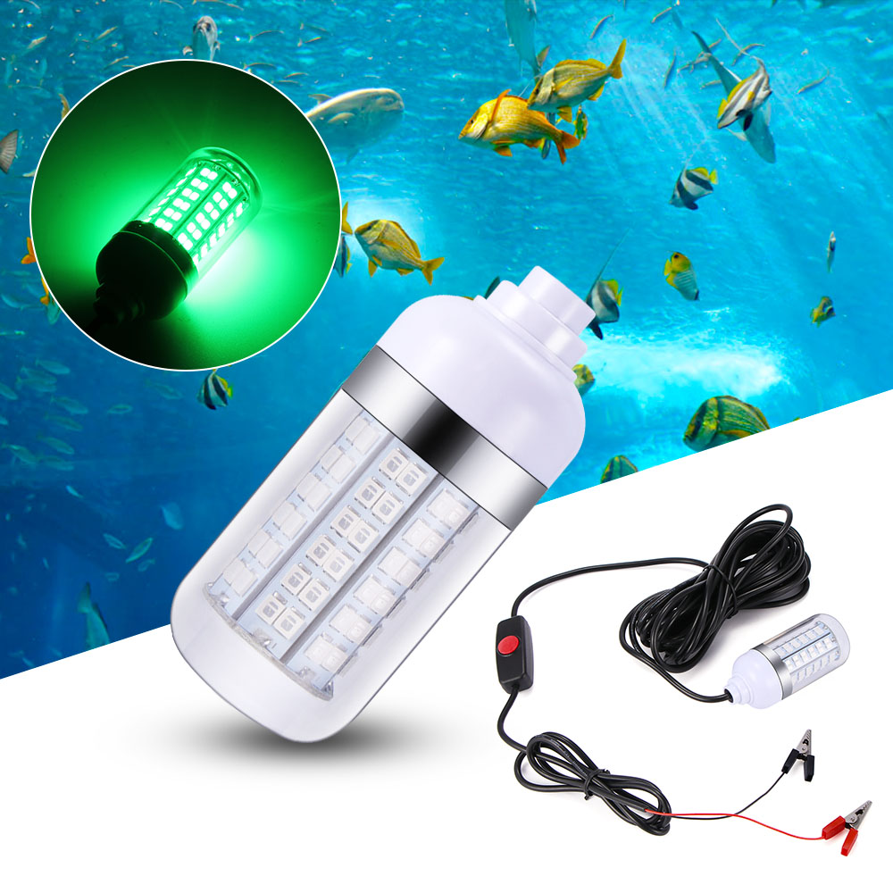 12V 108LED Lure Bait 15W Night Fishing Finder Lamp Light shads fishing LED boat fishing Deep Drop Underwater Light|LED Underwater Lights|   - AliExpress