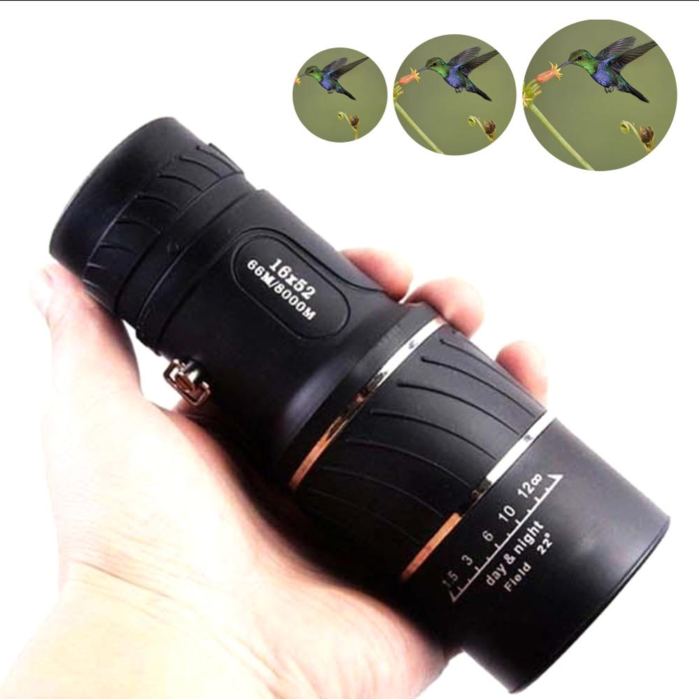 Dual Focus Telescope 16x52 High Power HD Optical Hunting Telescope Low-light-level Night Vision Portable High Quality Scope