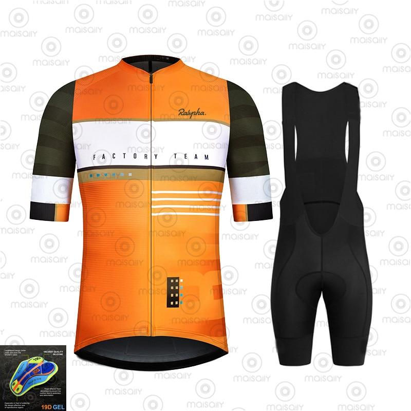 Men's Cycling Jersey 2020 Pro Team Bike Summer Cycling Clothing Quick Drying Set Racing Sport Mtb Bicycle Jerseys Bike Uniform
