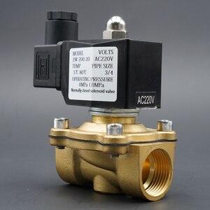 """Image 3 - الملف اللولبي صمام المياه عادة إغلاق صمامات النحاس 220V12V24V الهواء صمام الملف اللولبي الغاز المياه 1/4 """"3/8"""" 1/2 """"3/4"""" 1 """"2"""""""