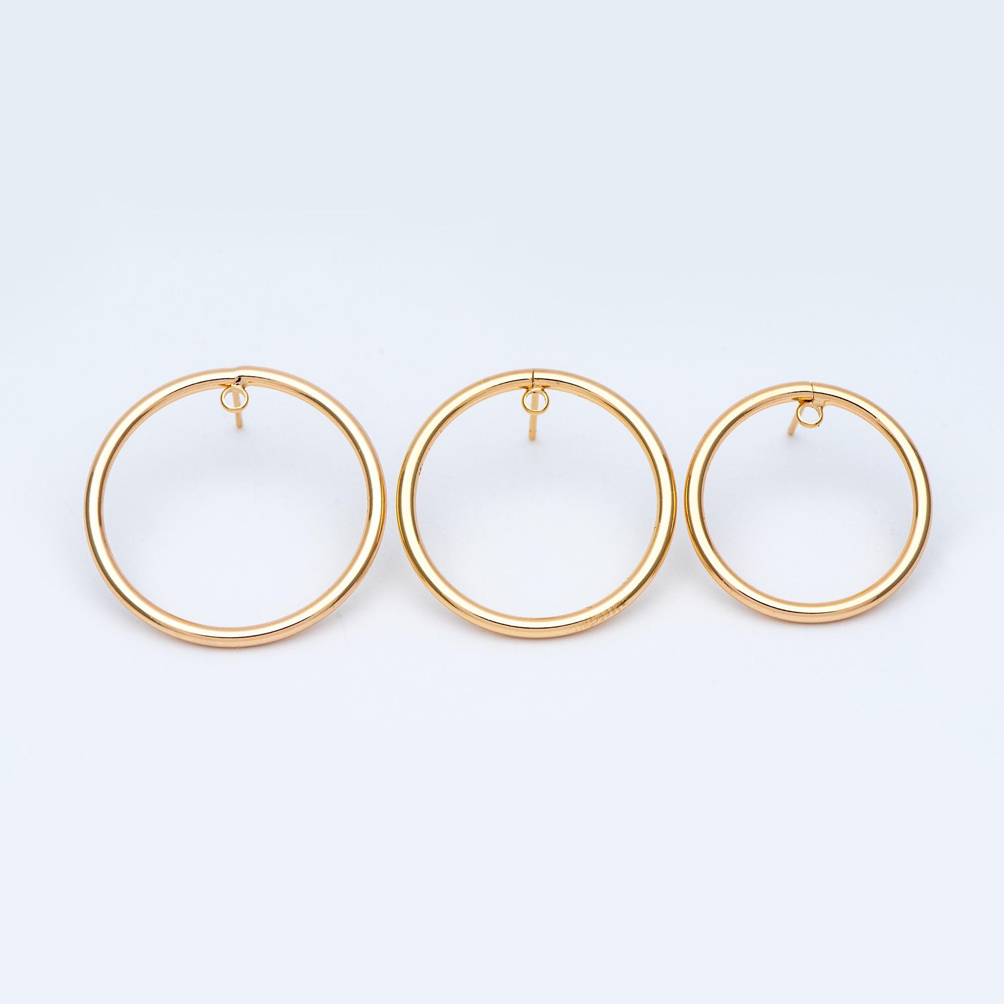 10pcs Minimalist Earring Pin Hook Brass Earwire Copper Ear Wire Hoop Accessory