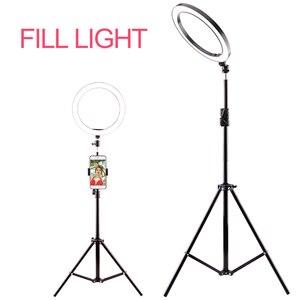 Image 1 - Fotografia anel luz mini led selfie luz estúdio fotografia foto luzes preencher luz 160/260mm com 10 níveis de brilho