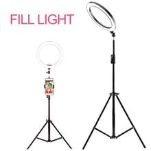 Fotografie Ring Licht Mini LED Selfie Licht Studio Fotografie Foto Lichter Füllen Licht 160/260MM mit 10 ebenen von helligkeit