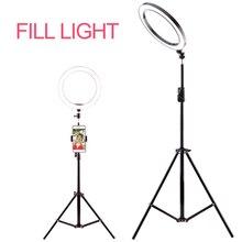 写真撮影リングライトミニ led selfie ライトスタジオ写真撮影フォトライト補助光 160/260 ミリメートルと 10 レベルの輝度