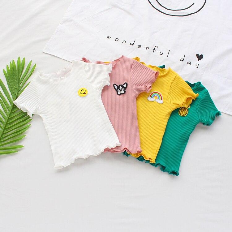 VIDMID Summer baby girls short sleeve T-shirt boys baby cotton T-shirt short sleeve toddles children's casual tops tees P2050 2