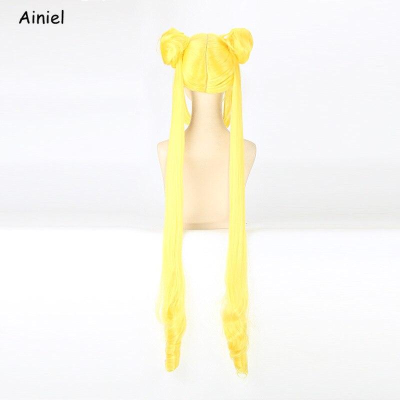 Image 5 - Anime Sailor moon Cosplay Wigs Orange Gold Yellow Sailor Moon Wig for Women Girls Pretty Soldier Sailor Moon Wig CosplayAnime Costumes   -