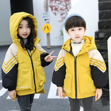 Winter new children's down jacket thickening boys and girls color children's wear down cotton padded boy and girl baby warm coat 2019 new style children down jacket baby winter ski wear boys and girls infant winter jacket baby boy parka snow set warm
