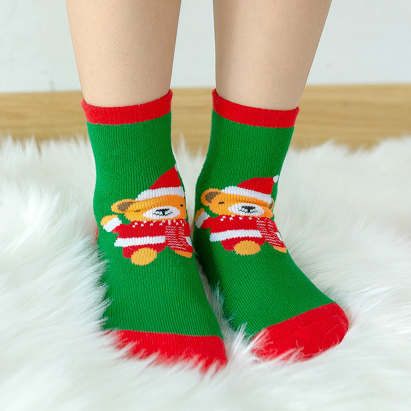 1 пара, рождественские подарки для детей, рождественские носки 25*8 см женские носки новогодние подарки, чулки рождественские подарки, год - Цвет: Naturals
