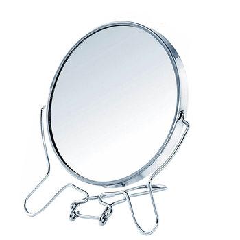360 obracanie metalowe lustrzane 1 2 zoom funkcja dwustronnie lustro lupa rama ze stali nierdzewnej makijaż lusterko kosmetyczne narzędzia do makijażu tanie i dobre opinie Nie posiada Stainless steel 12*9 5cm Powiększające MR5684-00