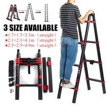 4,9 м многофункциональные удлинители ширина 82 мм алюминиевые лестницы 6 ступеней телескопическая двойная лестница в елочку