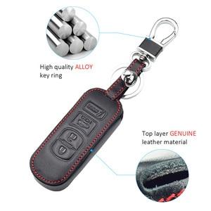 Чехол для ключа автомобиля из натуральной кожи для Mazda 3 2 5 6 Axela CX-3 CX-5 CX5 CX-7 CX7 CX-9 RX8 Smart Remote Fob Protector Cover Keychain Bag