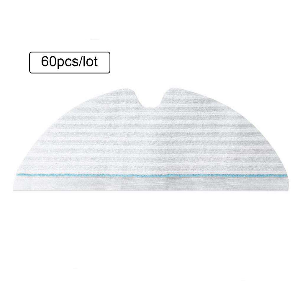 60PCS Disposable Mop Cloth Pad for Xiaomi Roborock S6 T6 Robot Vacuum Cleaner