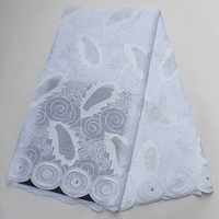 2020 New designs white African dry lace fabrics Dubai high quality stones Austria polish cotton Swiss voile laces in Switzerland