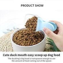 Многоцелевой милый мультяшный питомец пищевой совок, пластиковая ложка для кошек и собак, кормушка для домашних животных, товары для кормления
