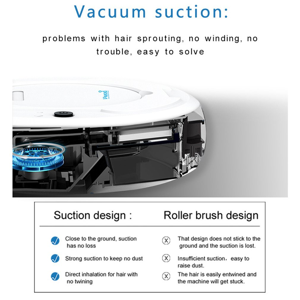 Multifunctional Smart Floor Cleaner 3 In 1 Auto Rechargeable Smart Sweeping Robot Dry Wet Sweeping Vacuum Cleaner Hand Push Sweepers     - title=