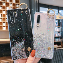 Glitter Case For Huawei P40 Lite P30 Pro P10 P8 P9 Lite 2017 Y9 Prime 2019 Y7 Y6 Y5 2018 Honor 9A 9X Soft Epoxy Phone Back Cover for huawei p9 p10 lite case embossed rattan wallet flip case for huawei p9 lite mini enjoy 7 y6 pro 2017 for y7 honor 7x 9 lite