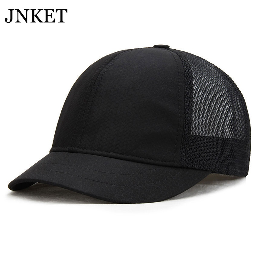 JNKET New Unisex Short Visor Mesh Baseball Cap Summer Hat Quick-dry Baseball Hats Adjustable Snapback Hat Gorras Casquette