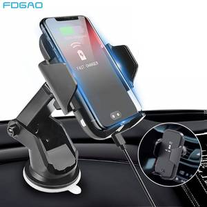 FDGAO Automatic Clamping Qi Car Wireless Charger For iPhone 11 XS Max XR X Samsung S10 S20 10W Fast Charging Stand Phone Holder