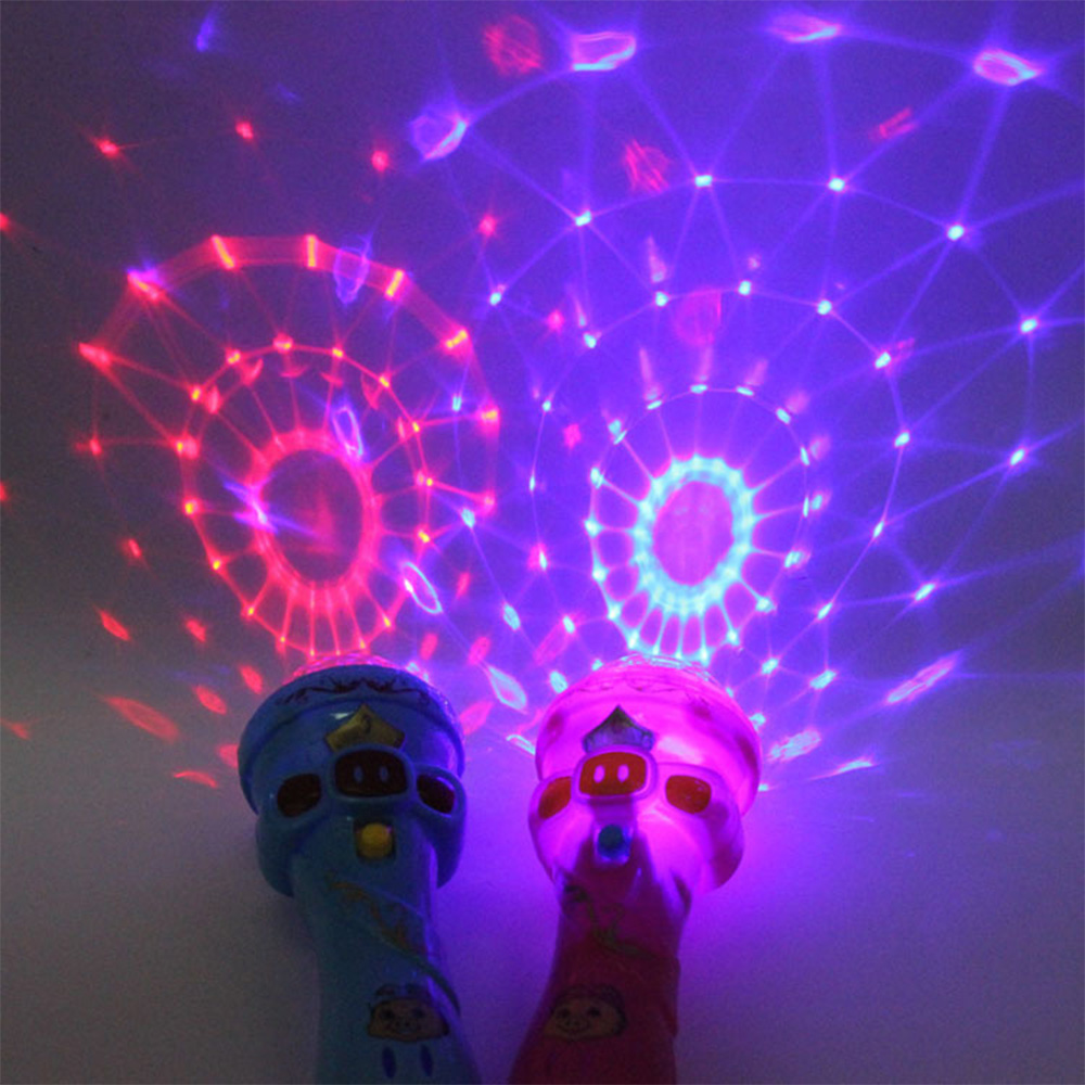 Luminous Toys Glowing Toy Lighting Funny Wireless Microphone Model Gift Music Karaoke Cute Mini Fun Child Gift Flashing Stick
