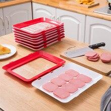 6 pçs criativo vácuo preservação de alimentos bandeja empilhável fresco mantendo bandeja geladeira comida servindo bandeja placa cozinha organizador