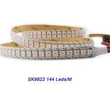 Dc5v sk9822 5050 rgb led strip luz semelhante apa102 30 60 144 dados e relógio separadamente endereçável ip30 65 67