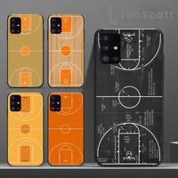 885 كرة السلة المحكمة الهاتف حالة لسامسونج غالاكسي S 7 8 9 10 20 حافة 6 10 20 30 50 51 70 ملاحظة 10 زائد