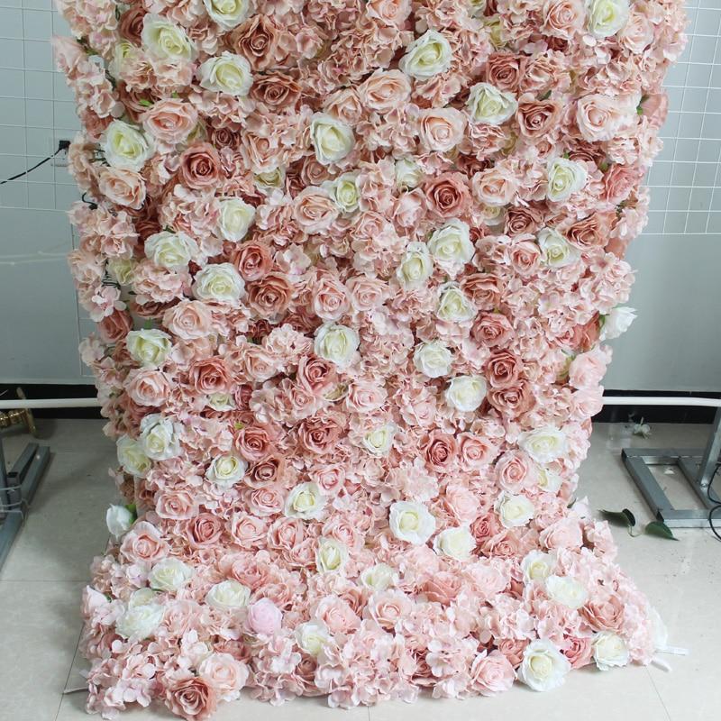 Ev ve Bahçe'ten Yapay ve Kurutulmuş Çiçekler'de SPR roll up kumaş taban çiçek duvar Yapay düğün backdrop düzenleme çiçek süslemeleri title=