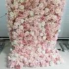 SPR rollo up tela base flor pared Artificial boda ocasión Fondo arreglo flores decoraciones