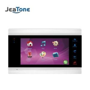 Image 2 - Jeatone 7 Polegada indoor monitor de vídeo porta telefone campainha intercom sistema gravação vídeo foto tomada montagem na parede prata