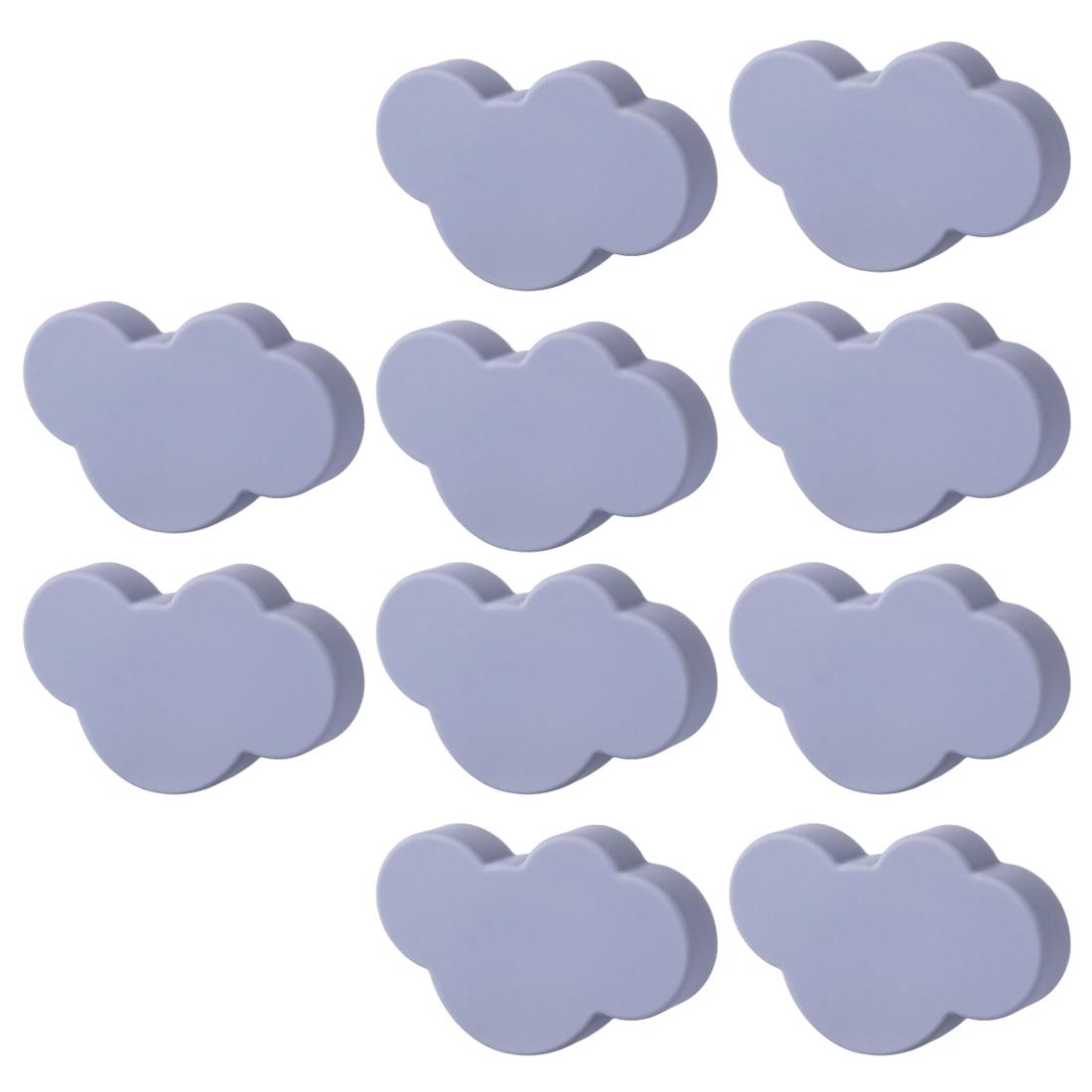 6 pces/8 pces/10 pces nuvem porta armário knob pvc haplopore gaveta puxar puxadores e alças para móveis-pequenas nuvens brancas