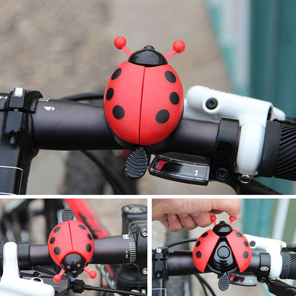 Bicycle Bell Ring Beetle Cartoon Cycling Bell Lovely Kids Ladybug Bell Ring for Bike Ride Horn Alarm bicycle Accessories