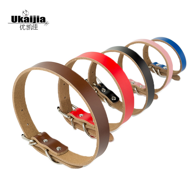 Hot Selling Pet Supplies Manufacturers Direct Selling Pure Leather Dog Neck Ring Genuine Leather Dog Neck Ring Dog Chain Current