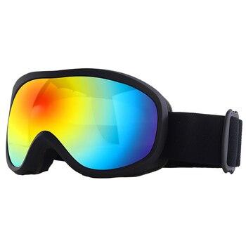 Double Layer Blue Lens Winter Ski Goggles Anti-Fog Eyewear Snowboard Goggles UV Protection Anti Fog Snow Goggles Men Women White