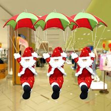 Hanging Parachute Santa Claus, Christmas Decoration Indoor Outdoor Decorations R9UE цена 2017