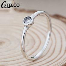 Cuteeco 2019 Romantik Silver Round Shape Stackable Pan Rings Clear CZ Finger Rings for Women Engagement Jewelry Gifts cuteeco hight quality silver color 22 styles stackable pan finger ring for women original ring engagement jewelry gifts