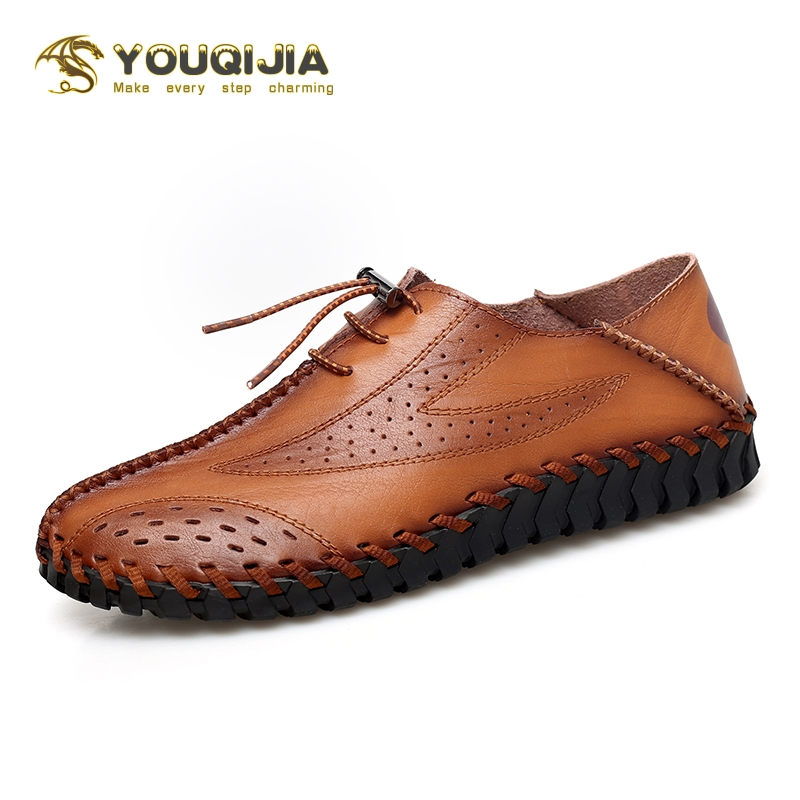 2020 Fashion Men Casual Shoes Moccasins Flats Men's Shoes Breathable Driving Shoes Men Leather Boat Shoes Loafers Big Size 38-47